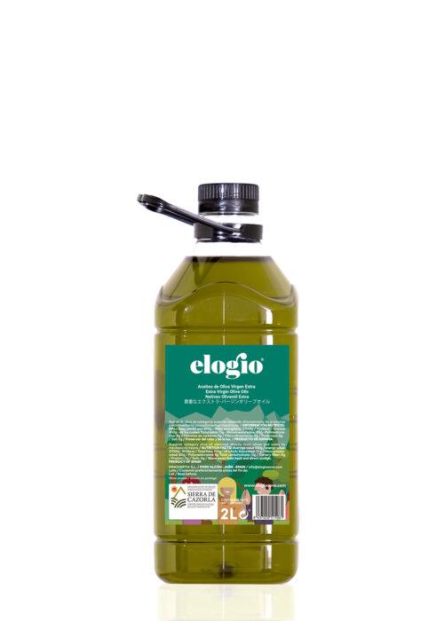 garrafa de aceite verde